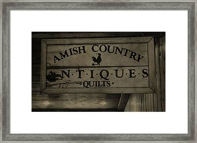 Amish Antique Quilts  Framed Print