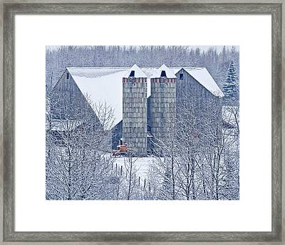 Amish Barn Framed Print by Jack Zievis