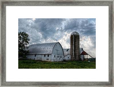 Amish Barn Framed Print