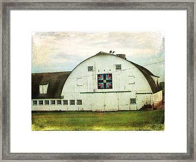 Amish Barn Quilt Framed Print