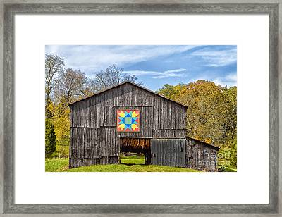 Amish Barn With Hex Framed Print