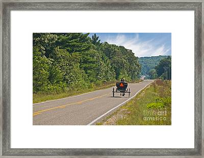 Amish Buggy Framed Print by Richard and Ellen Thane