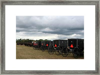 Amish Car Park Framed Print