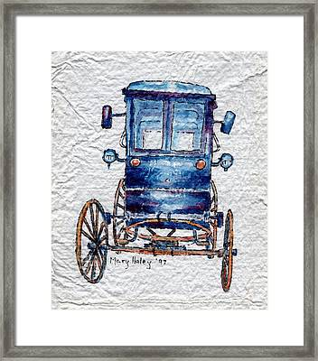 Amish Cart Framed Print