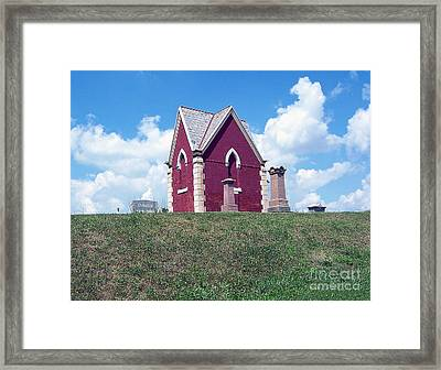 Framed Print featuring the photograph Amish Cemetery by Gena Weiser