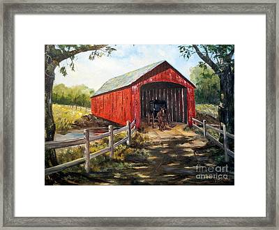 Amish Country Framed Print by Lee Piper