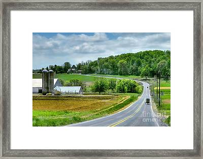 Amish Countryside Framed Print