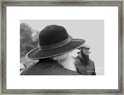 Amish Faces Framed Print by Mary Carol Story