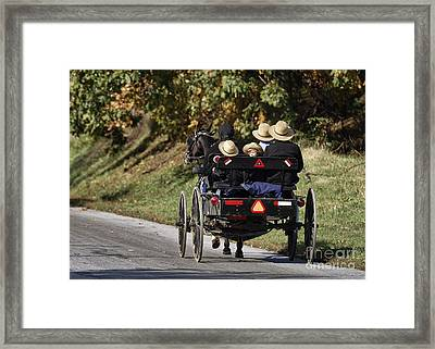 Amish Family Framed Print