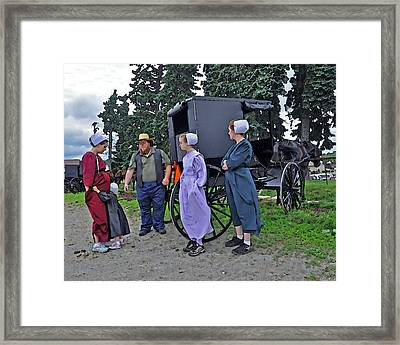 Amish Family Travelers Framed Print by Brian Graybill