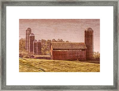 Amish Farm Framed Print