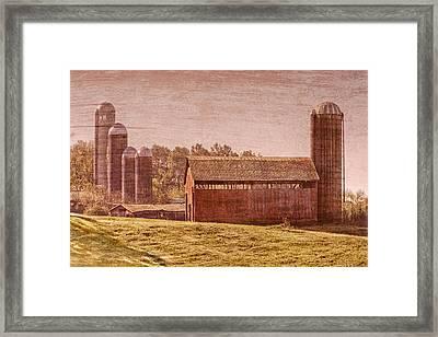 Amish Farm Framed Print by Debra and Dave Vanderlaan