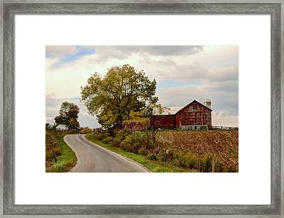 Amish Farm II Framed Print by Ann Bridges