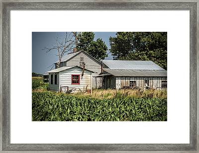 Amish Farm In Tennessee Framed Print by Kathy Clark
