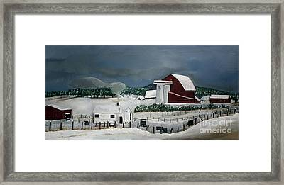 Amish Farm - Winter - Michigan Framed Print