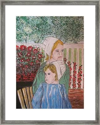 Amish Girls Framed Print