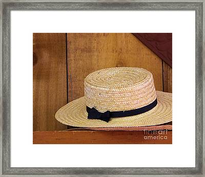 Amish Hat Framed Print