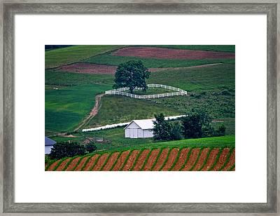 Amish Landscape Framed Print