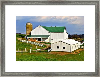 Amish Living Framed Print