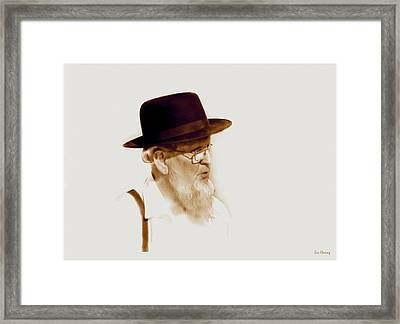 Amish Man  Framed Print