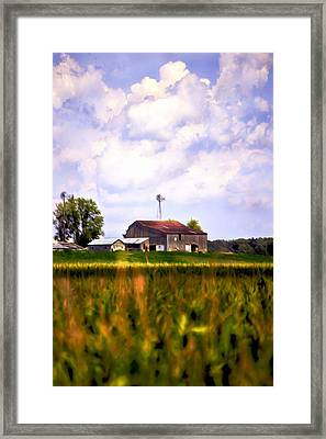 Amish Paradise Framed Print by Brenda Harrah
