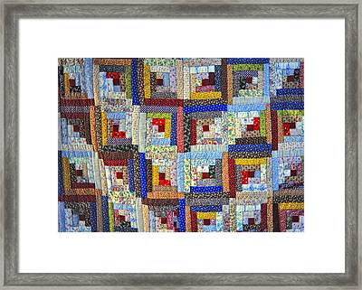 Amish Quilt Framed Print by Wendell Thompson