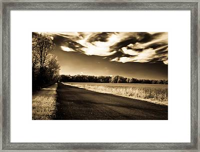 Framed Print featuring the photograph Amish Road by David Stine