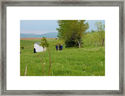 Amish School Yard Framed Print by Margo Miller