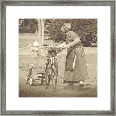 Amish Times Framed Print