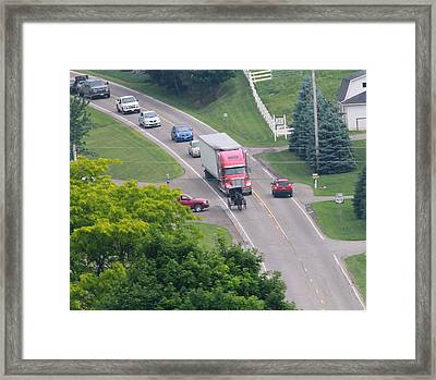 Amish Traffic Jam Framed Print