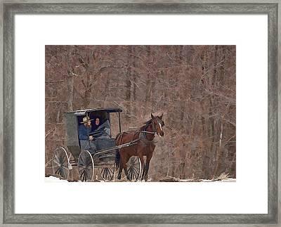 Amish Travels Framed Print