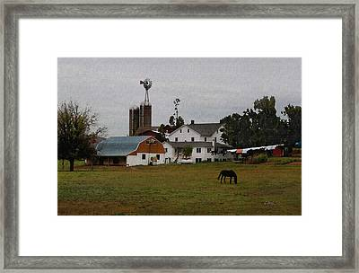 Amish Wash Day Framed Print by Gordon Beck