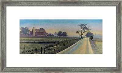 Amish Way Framed Print by Cindy McIntyre