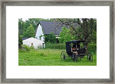 Amish Way Of Life Framed Print by Frozen in Time Fine Art Photography