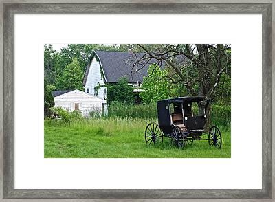 Amish Way Of Life Framed Print