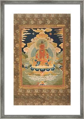 Amitayus - The Bodhisattva Of Limitless Life Framed Print by Tilen Hrovatic