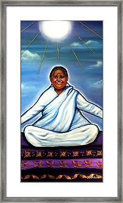 Amma -the Hugging Saint Framed Print by Carmen Cordova