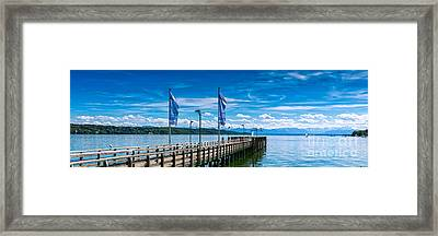 Framed Print featuring the photograph Ammersee - Lake In Bavaria by Juergen Klust