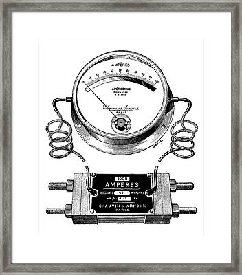Ammeter And Shunt Framed Print by Science Photo Library