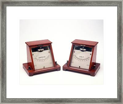Ammeter And Voltmeter Framed Print by Dorling Kindersley/uig
