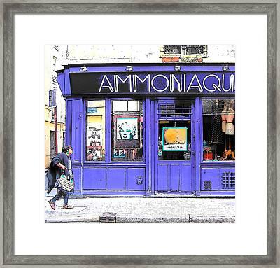 Ammoniaque Boutique In Marais Paris Framed Print by Jan Matson