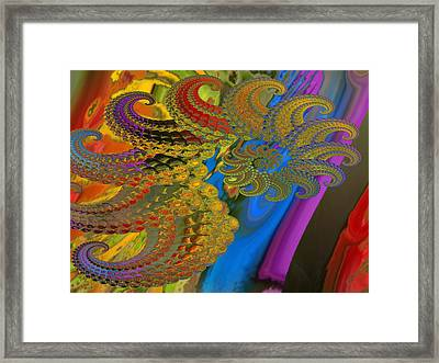 Ammonite 4 Framed Print by Soumya Bouchachi
