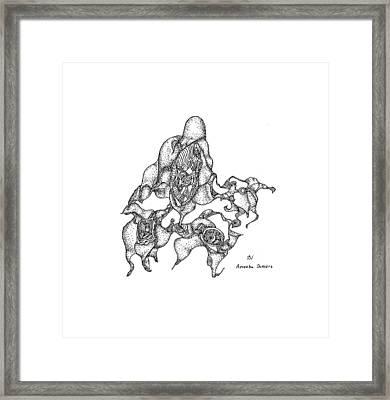 Amoeba Dancers Framed Print