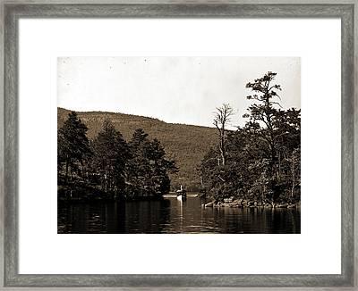 Among The Harbor Islands, Lake George Framed Print