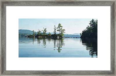 Among The Islands Framed Print