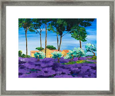 Among The Lavender Framed Print by Elise Palmigiani