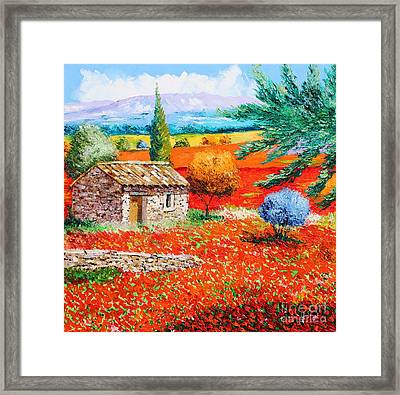 Among The Poppies Framed Print by Jean-Marc Janiaczyk