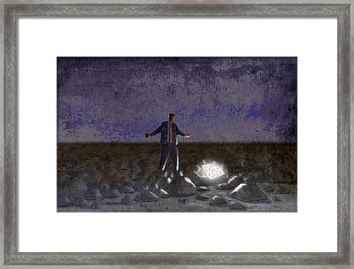 Among The Rubble Framed Print by Steve Dininno