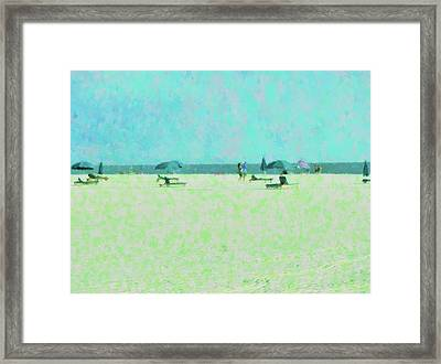 Among The Umbrellas Framed Print by Florene Welebny