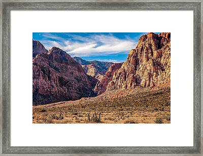 Amongst The Canyon Walls Framed Print